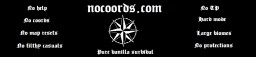 Nocoords: for fanatic vanilla survival players Minecraft