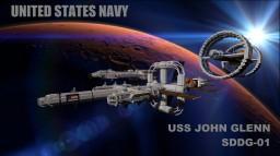 John Glenn-Class Space Destroyer Minecraft Map & Project