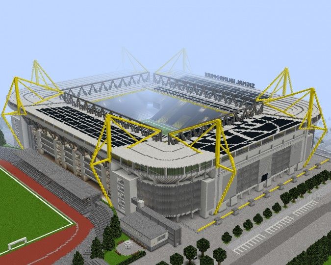 borussia dortmund signal iduna park minecraft project. Black Bedroom Furniture Sets. Home Design Ideas
