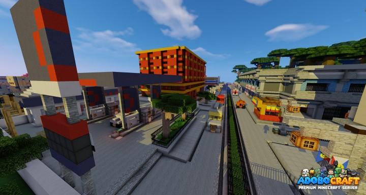 Metro Manila Street - Minecraft Version of Petron and Metro Manila