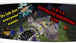 Minecraft Ultimate redstone lab 1.8/1.9!! Minecraft Map & Project