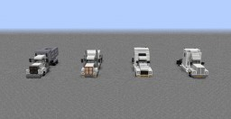 Semi-Truck Package #1; 4 BUILDS INCLUDED! | 1:1 Scale Minecraft Map & Project