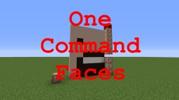 One Command Faces Minecraft Map & Project