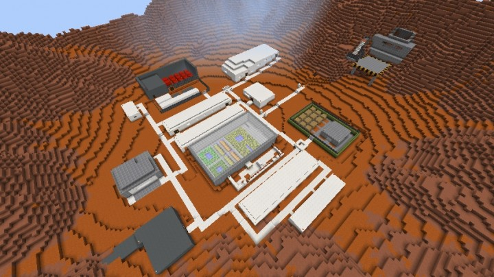 Martian Colony Life On Mars Project Entry Minecraft Project