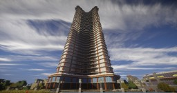 SmattCom Tower | Matt's MineCity Minecraft Project