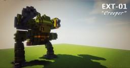 EXT-01 Creeper  Titan Mecha Minecraft Map & Project