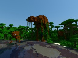Abandoned AT AT + AT ST Walker STAR WARS Minecraft Map & Project