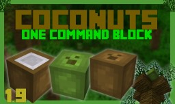 Growable Coconut Trees & Edible Coconuts | One Command Block | 1.10 Minecraft Map & Project