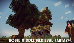 House Middle Medieval Fantasy Minecraft Map & Project