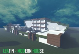 Leafin - Modern House Minecraft Map & Project