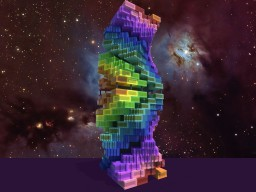 Office building #6, Rainbow spiral Minecraft
