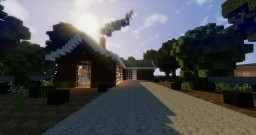 Modern Log Cabin  I  WoK Minecraft Map & Project