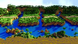 Chapter 1: Paper Mario 64, To Koopas Fortress, 3D Terrain Rendition Minecraft Project