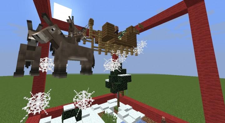 Santa's sleigh - Avent2015 - Christmas adventure build entry Minecraft ...