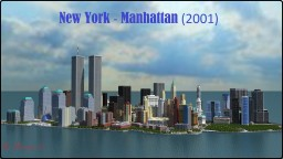 Project - Manhattan in Minecraft (2001)  scale 1:2 (Манхэттен в Майнкрафт) Minecraft