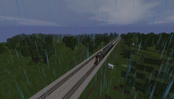 Passenger train making its way to Cincinnati OH