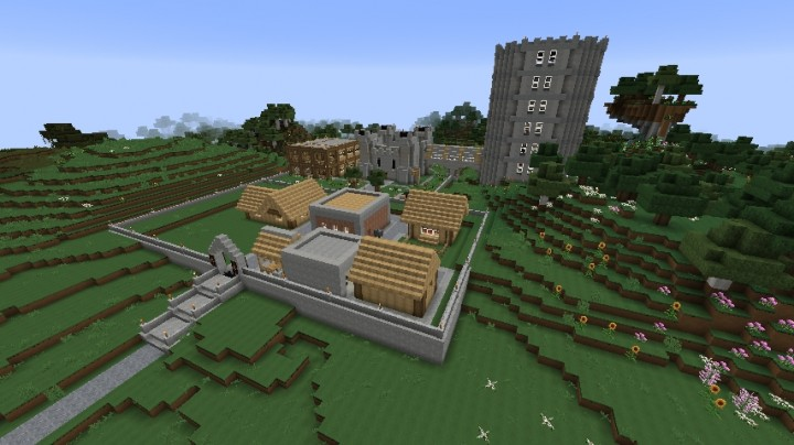 Castle And Small Town Map Minecraft Project - Maps fur minecraft 1 8 9
