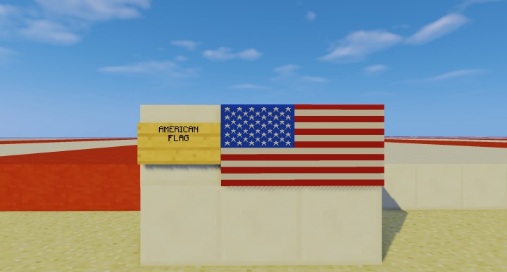 US American Flag For Item Frame Graphic Design. Minecraft Project