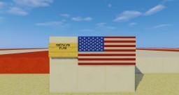US American Flag For Item Frame Graphic Design. Minecraft