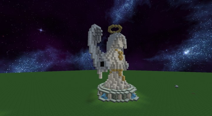 how to make an angel statue in minecraft