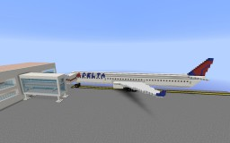 Boeing 757-200 (Delta) Minecraft Map & Project