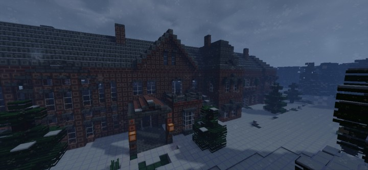 Creepy Christmas Mansion Minecraft Project