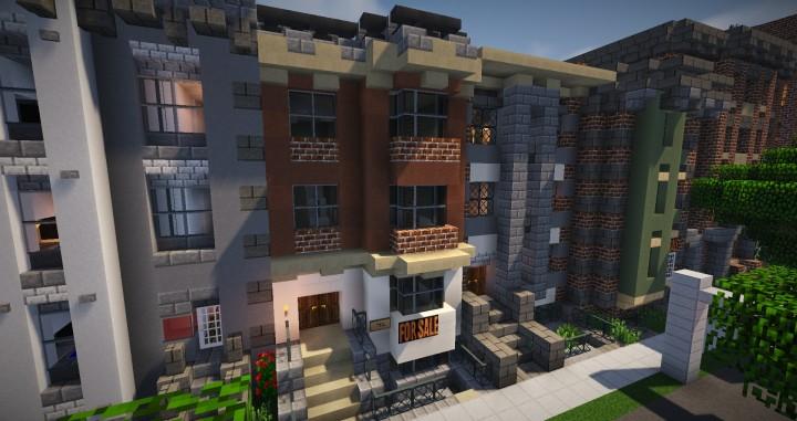 Small Row House Minecraft Map