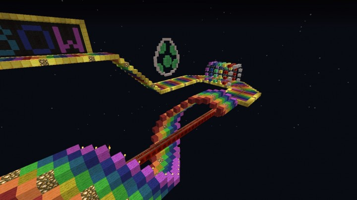 Rainbow road minecraft project for White rainbow project
