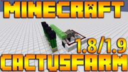Redstone Cactus Farm Tutorial 1.8 / 1.9 Fully Automatic Minecraft Map & Project
