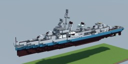 Fletcher class destroyer (1942) Minecraft