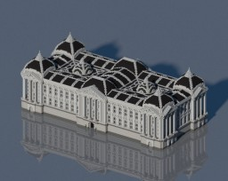 Neoclassical Grand Library Minecraft Map & Project
