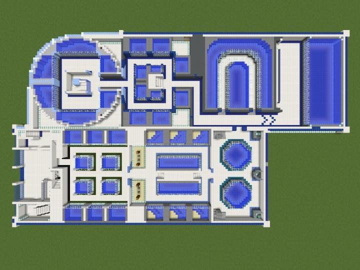 Quartz Aquarium Complete Interior Minecraft Project