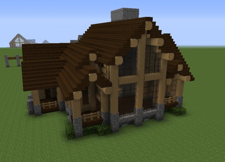 Minecraft Log Cabin ~ Log cabin mod v minecraft