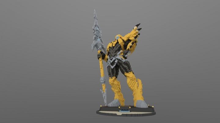 jarvan iv the exemplar of demacia statue minecraft project