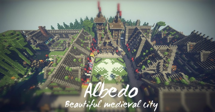 "Minecraft Medieval City Download ""Albedo"" Bea..."
