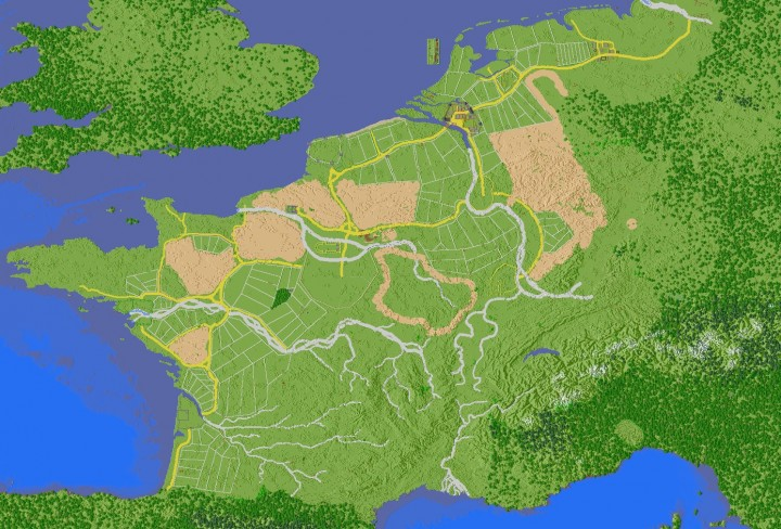 Europe Map Upgrade Minecraft Project