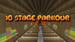 10 Fun Stages of Parkour Minecraft Map & Project