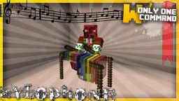 Playable xylophones with only one command block Minecraft