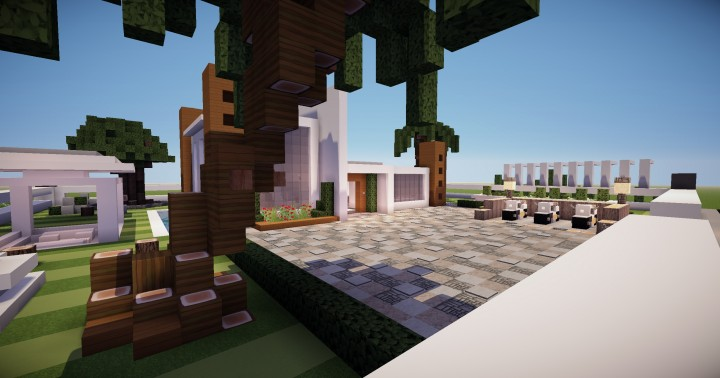 Maison moderne 1 minecraft project - Maison modern minecraft ...
