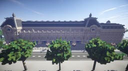 Museum D'Orsay Paris [Converted Trainstation] [+DOWNLOAD] Minecraft Map & Project