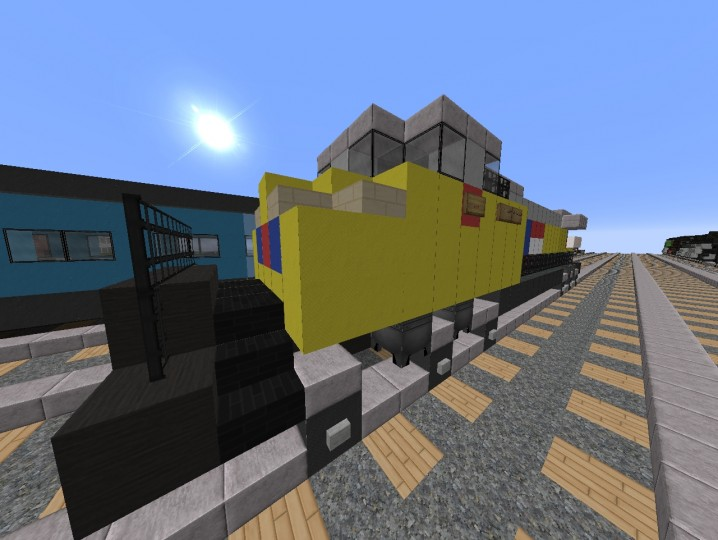 GE ES44AC Union Pacific Minecraft Project