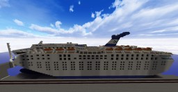 Grand Celebration Cruise Ship - EXTERIOR ONLY + DOWNLOAD! Minecraft Map & Project