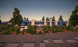 "Modern house ""Casa Blanca"" first project Minecraft Map & Project"