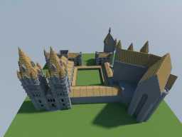 """Hogwarts in Minecraft as seen in """"Harry Potter and the Prisoner of Azkaban"""" Minecraft Project"""