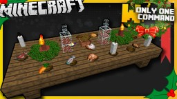 Christmas Dinner Items with only one command block Minecraft Map & Project