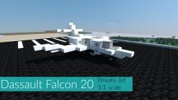 Dassault Falcon 20 | 1:1 | Private Jet Minecraft Project