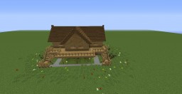 simple wooden mansion Minecraft Project