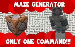 Maze Generator v1.2 - Only one command! Minecraft