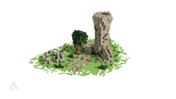 Abandoned medieval border point [Download] Minecraft