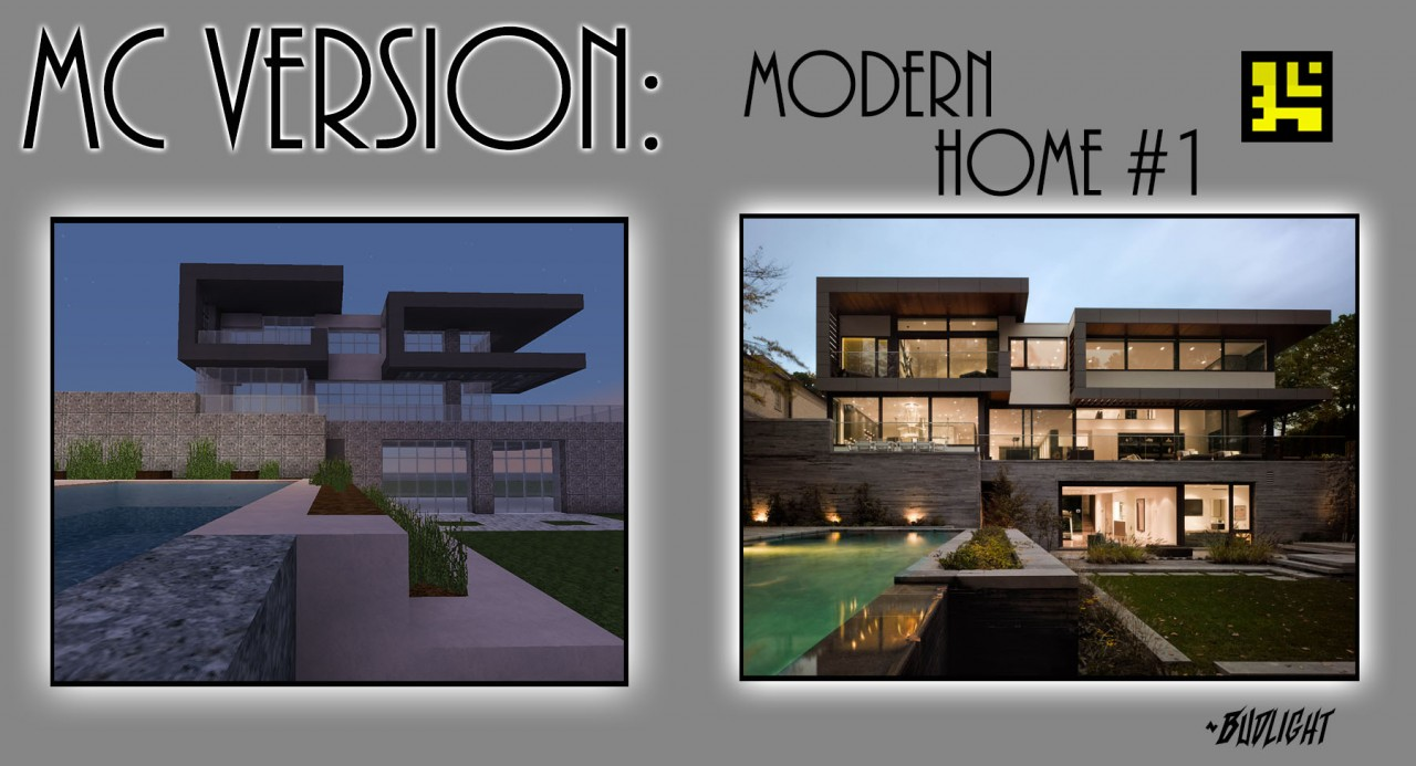 Mc version modern home 1 minecraft project for Modern house mc